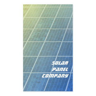 Solar panels business card