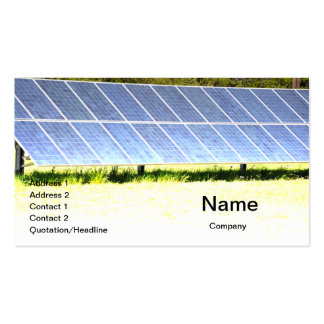 solar panels business cards