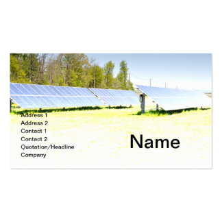 solar panels business card template