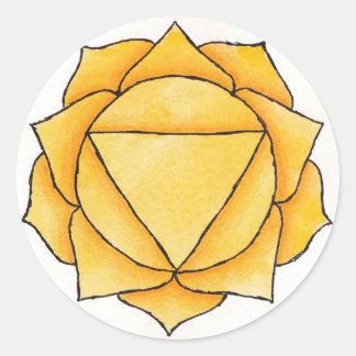 Solar Plexus Chakra Classic Round Sticker