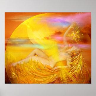 Solar Plexus Chakra Goddess Fine Art Poster/Print