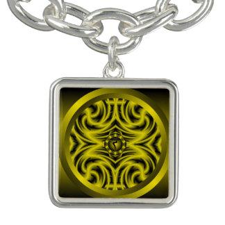Solar Plexus Chakra Mandala Charm Bracelet