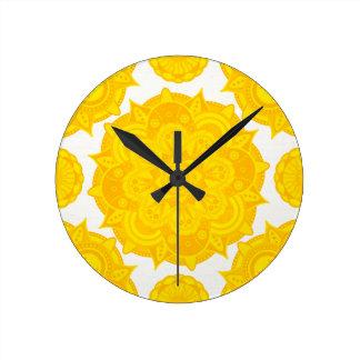 Solar Plexus Chakra Mandala Clocks