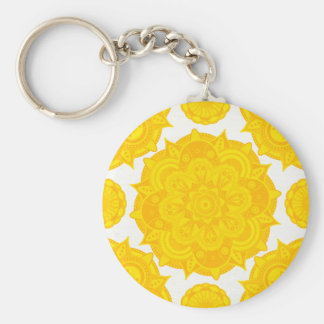 Solar Plexus Chakra Mandala Keychain