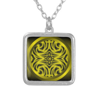 Solar Plexus Chakra Mandala Necklace