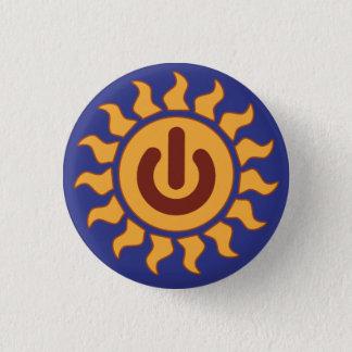 Solar Power 1 Inch Round Button