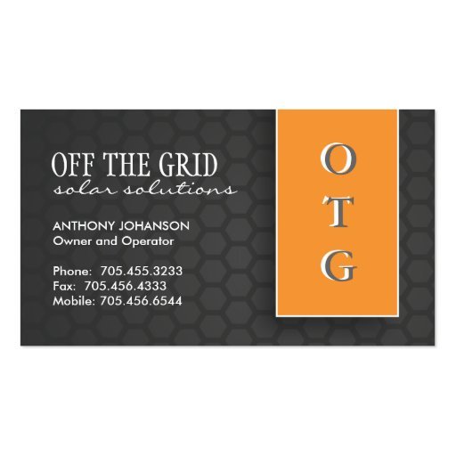 Solar Power Company : Business Cards