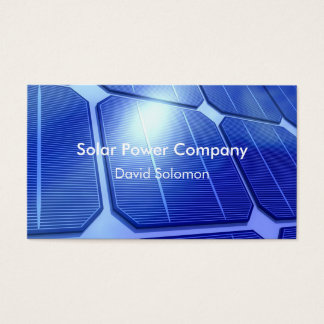 Solar Power Energy Business Cards