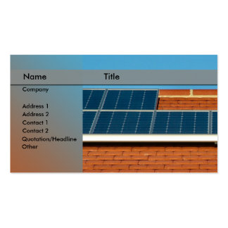 solar power / panel business card