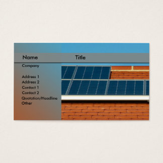 solar power / panel business card