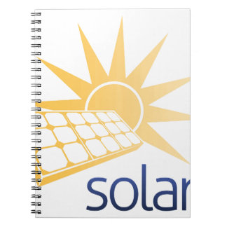 Solar Power Panel Concept Spiral Note Book