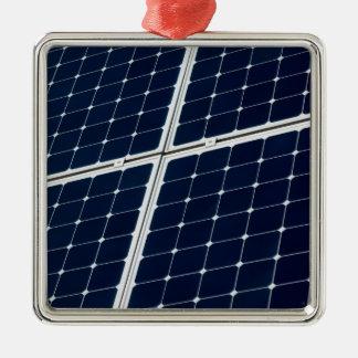 Solar power panel Silver-Colored square ornament