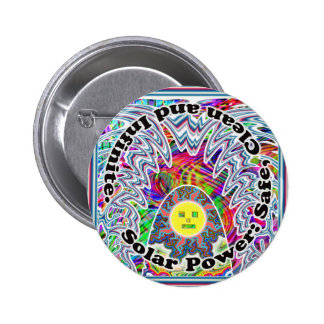 Solar Power: Safe, Clean and Infinite. Button