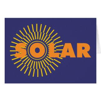 Solar Power Sun Greeting Cards