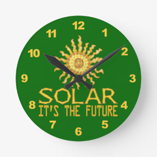 Solar Power Wall Clocks