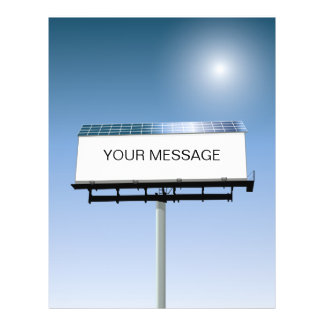 Solar Powered Billboard Flyer