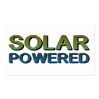 solar powered business card