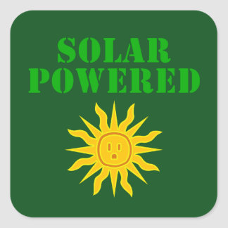 Solar Powered Square Sticker
