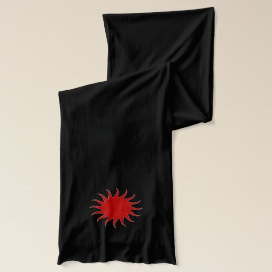 Solar Red Black Jersey Scarf