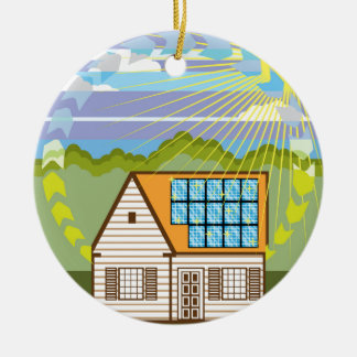 Solar Renewable Energy Eco Efficient Ceramic Ornament