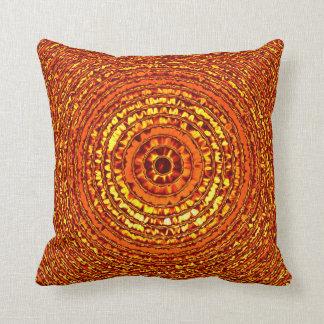 Solar Ripple / Bouquet Throw Pillow