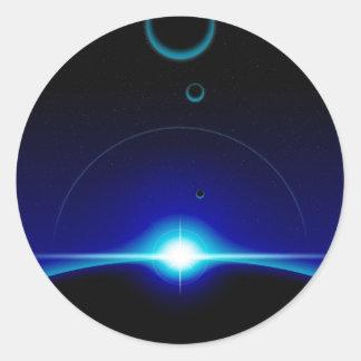 Solar Scene Round Sticker