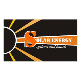 Solar/sun Energy/Power alternative sources Double-Sided Standard Business Cards (Pack Of 100)
