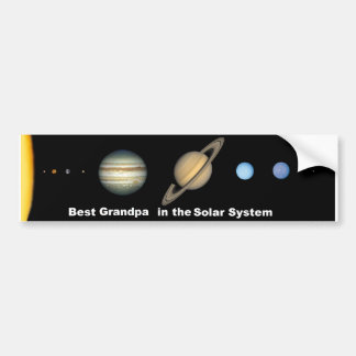 Solar System Best Grand Pa Bumper Sticker