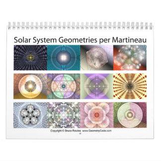 Solar System Geometries per Martineau Calendar