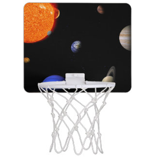 Solar system mini basketball hoop