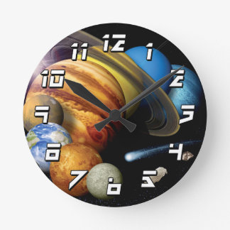 Solar System Montage Clock