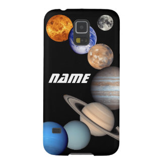 Solar System Montage JPL Photos - Customize Name Galaxy S5 Cover