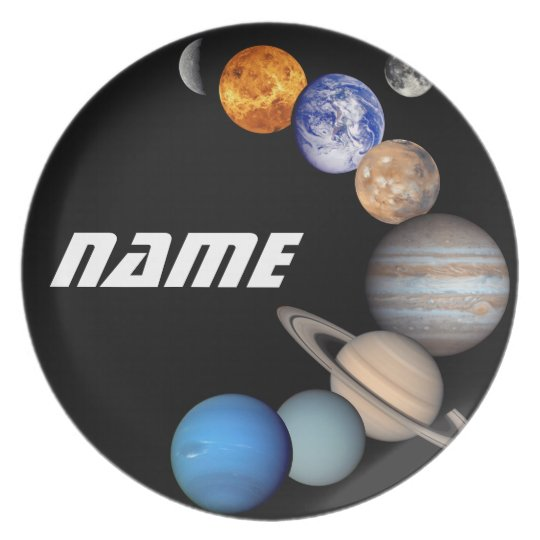 Solar System Montage JPL Photos - Customize Name Plate