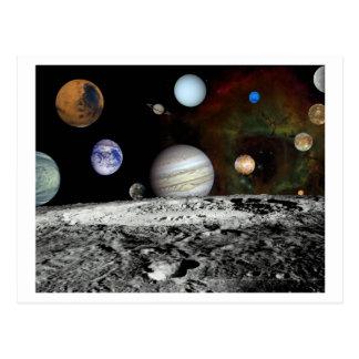 Solar System Montage Postcard
