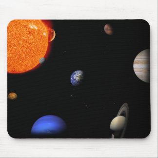 Solar system mouse pad