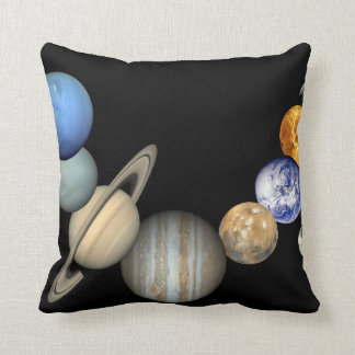 Solar System Poster Print Throw Pillow
