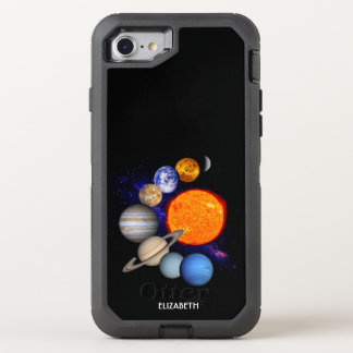 Solar System Sun Planets Milky Way Galaxy Science OtterBox Defender iPhone 8/7 Case