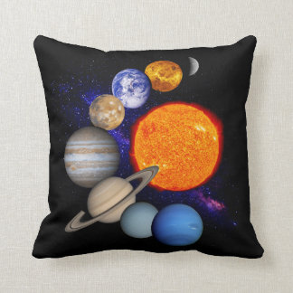 Solar System Sun Planets Milky Way Galaxy Science Throw Pillow
