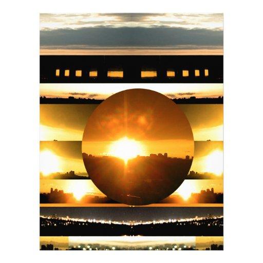 SOLAR SYSTEM:   SUN SET: Golden Healing Energy Customized Letterhead