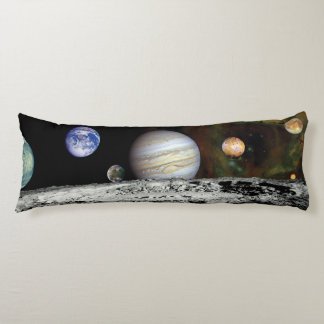 Solar System Voyager Images Montage Space Photos Body Pillow