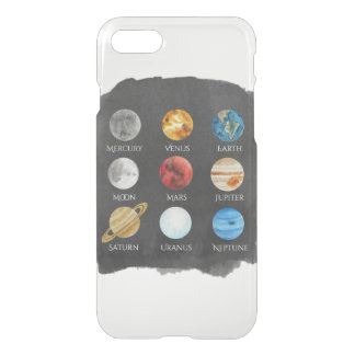 Solar System Watercolor Clear Case
