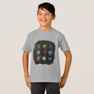 Solar System Watercolor Kids TShirt