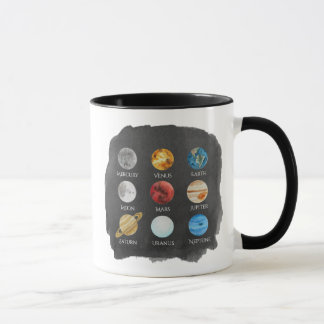 Solar System Watercolor Mug