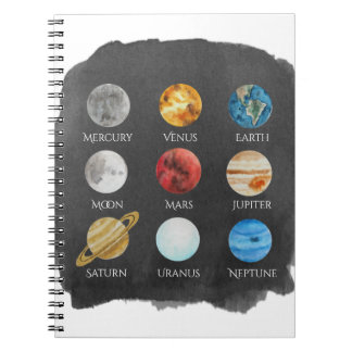 Solar System Watercolor Notebook