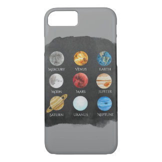 Solar System Watercolor Phone Case