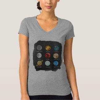 Solar System Watercolor Women's TShirt