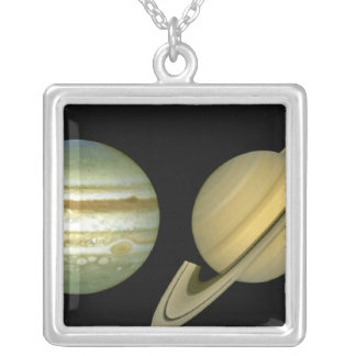 Solar Sytem ~ Long View Silver Plated Necklace