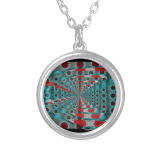 solar trash silver plated necklace