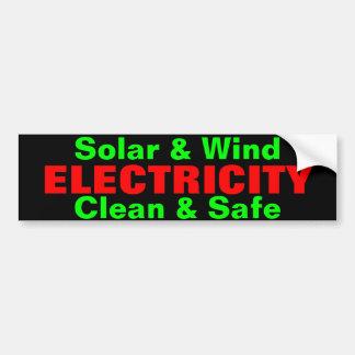 Solar & Wind Electricity bumpersticker Bumper Sticker