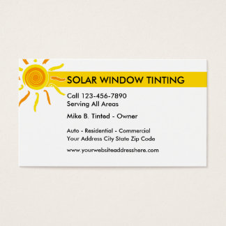 Solar Windows And Tinting Business Card